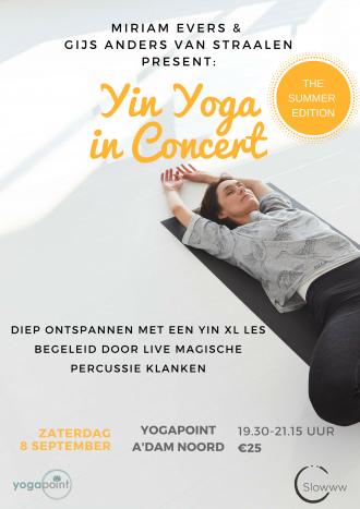 yin yogain concert